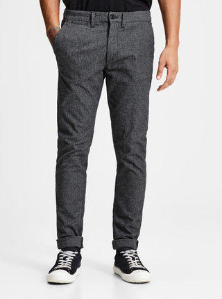 Pantaloni gri chino slim fit Jack & Jones