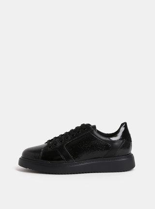 Čierne dámske kožené tenisky Geox Thymare