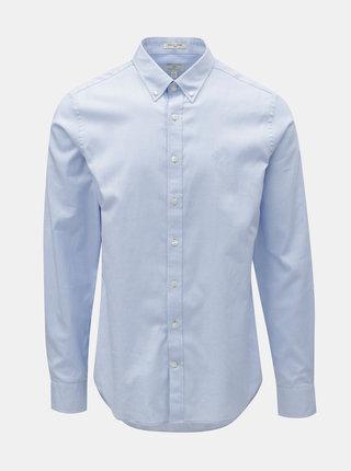 Svetlomodrá pánska formálna slim fit košeľa GANT