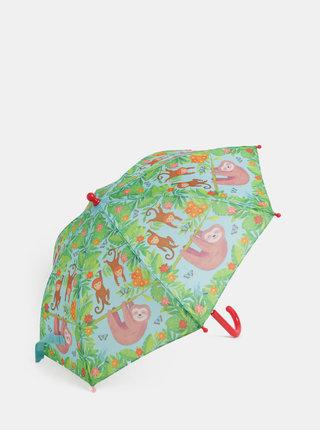 Zelený deštník s motivem zvířat Sass & Belle
