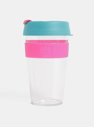 Ružovo–modrý cestovný hrnček KeepCup Original large 454 ml