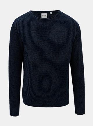 Modrý melírovaný sveter ONLY & SONS