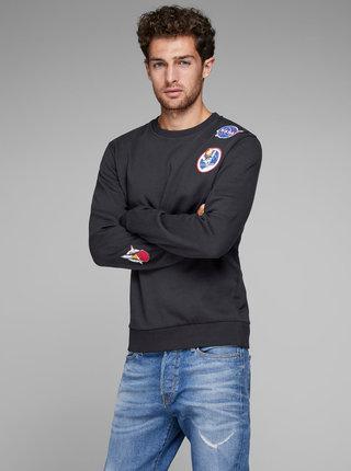 Bluza sport neagra cu petic Jack & Jones Nasa