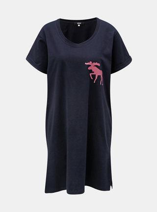 Camasa de noapte roz cu motiv elan ZOOT
