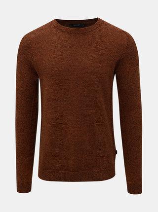 Hnedý melírovaný sveter Jack & Jones Maine
