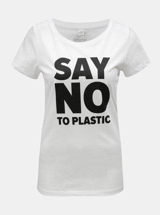 Biele dámske tričko s potlačou ZOOT Original Say no to plastic