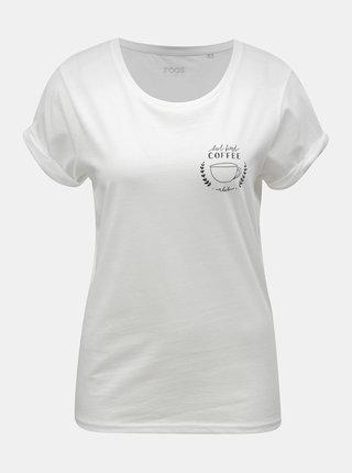 Biele dámske tričko s motívom hrnčeka s kávou ZOOT Original Coffee