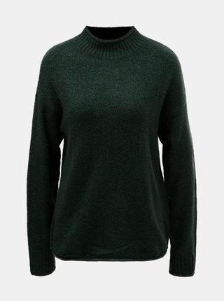Tmavě zelený třpytivý svetr Jacqueline de Yong