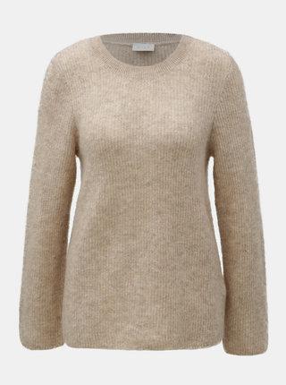 Béžový vlněný basic svetr VILA Tura