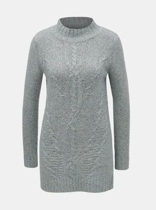 Svetlomodrý melírovaný sveter so stojačikom M&Co