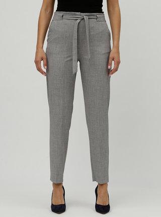 Sivé melírované nohavice s vysokým pásom M&Co