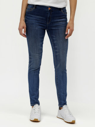 Tmavě modré slim fit džíny s vyšisovaným efektem Nautica