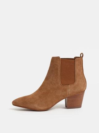 Hnědé dámské semišové chelsea boty ALDO Grillan