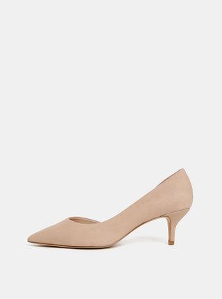 Pantofi bej din piele intoarsa ALDO Nyderindra