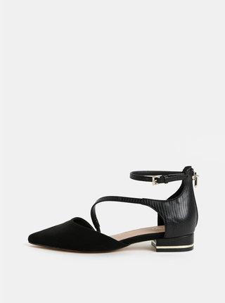 Sandale negre cu detalii cu aspect de piele intoarsa ALDO Acemma