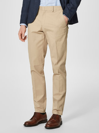 Pantaloni chino bej Selected Homme