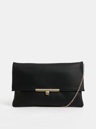 Čierna listová kabelka s detailmi v zlatej farbe Gionni Linden