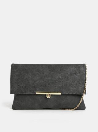 Sivá listová kabelka s detailmi v zlatej farbe Gionni Linden