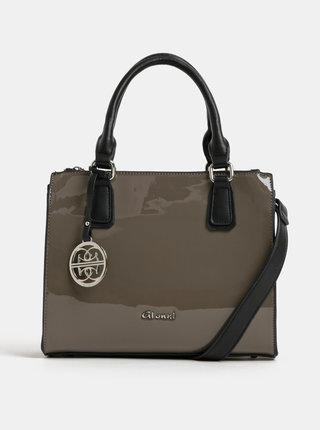 Hnedá lesklá kabelka Gionni Marina
