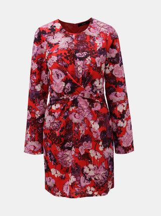 Červené květované šaty VERO MODA  Marlene