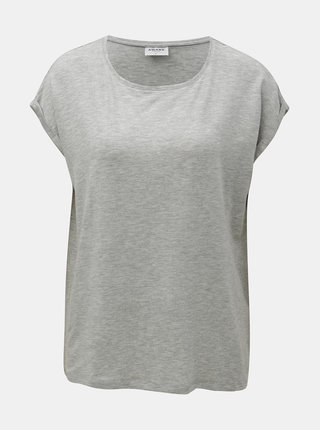 Tricou basic gri melanj lejer cu maneci scurte AWARE by VERO MODA Ava