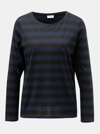 Tricou basic negru-albastru in dungi Jacqueline de Yong Rosa