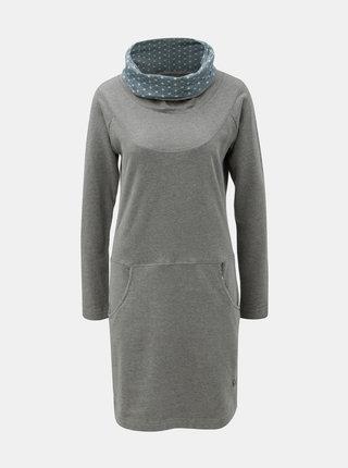 Sivé šaty s golierom Tranquillo Vili