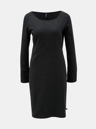 Čierne šaty s rozparkom na rukávoch Tranquillo Hemera