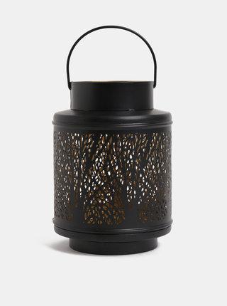 Černá malá kovová lucerna Dakls