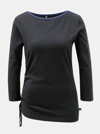Čierne tričko so sťahovaním na boku Tranquillo Ceres