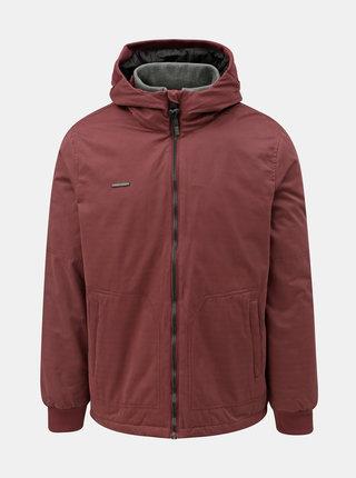 Vínová pánska zimná bunda s kapucňou Ragwear