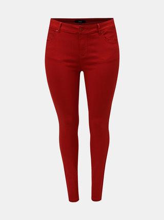 Červené elastické skinny džíny Zizzi