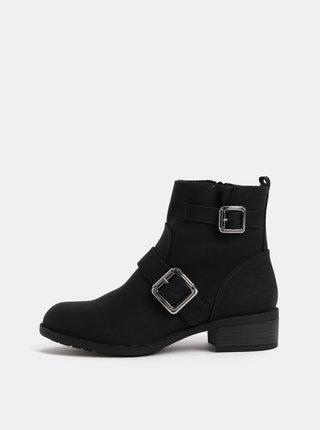 Černé kotníkové boty s detaily ve stříbrné barvě Dorothy Perkins