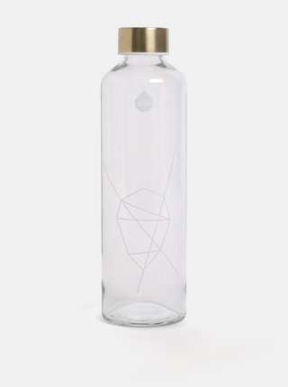 Sticla de apa cu capac auriu EQUA 750 ml