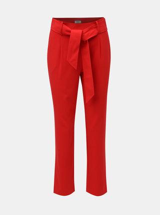 Červené kalhoty s vysokým pasem Jacqueline de Yong Felix