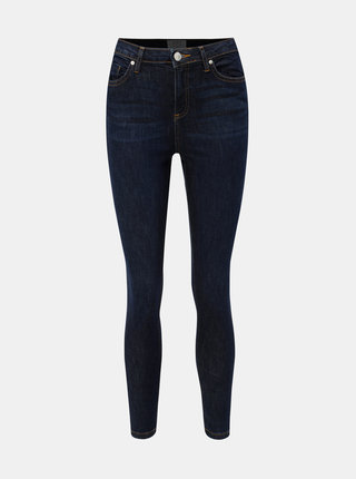Tmavě modré super skinny džíny s vysokým pasem Miss Selfridge Lizzie