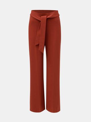 Tehlové voľné nohavice s vysokým pásom a zaväzovaním Miss Selfridge