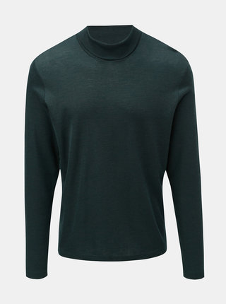 Helanca basic verde inchis din lana merino SUIT Corbin