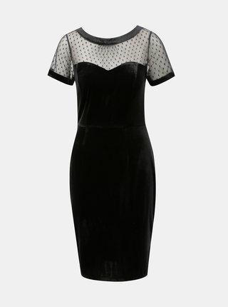 Rochie mulata catifelata neagra cu partea de sus transparenta M&Co Velvet