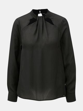 Bluza neagra cu decupaje pe decolteu Dorothy Perkins Emily