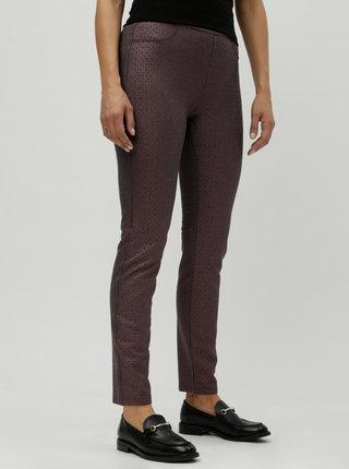 Fialové trblietavé nohavice DEHA