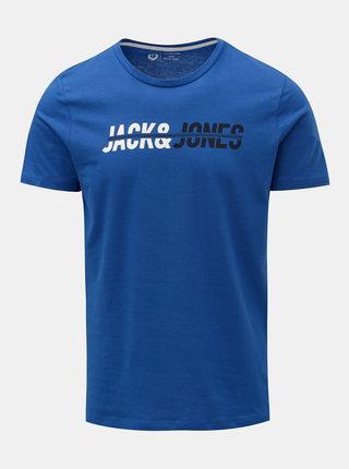 Modré tričko s nápisom Jack & Jones Linn