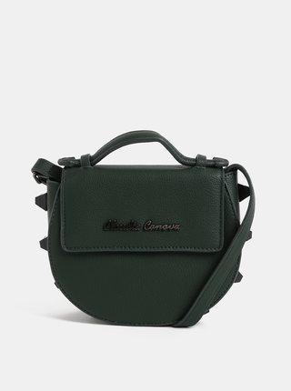 Tmavozelená malá crossbody kabelka s ozdobnými detailmi Claudia Canova Regal