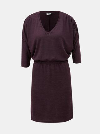 Fialové šaty s 3/4 nabíraným rukávem Noisy May Metropol