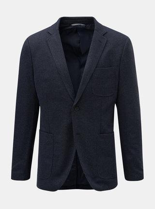 Sacou albastru inchis cu model discret Jack & Jones Liam