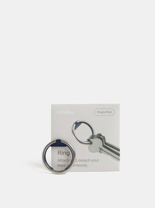 Breloc circular albastru-argintiu Orbitkey