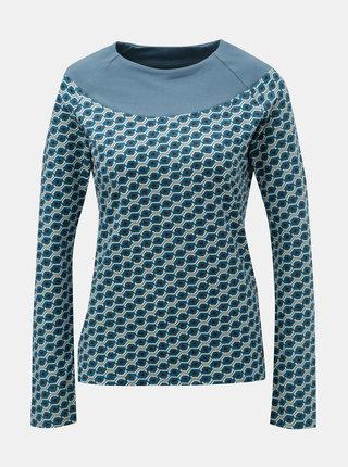 Modré vzorované tričko Tranquillo Cleo