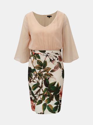 Starorůžové květované šaty Smashed Lemon