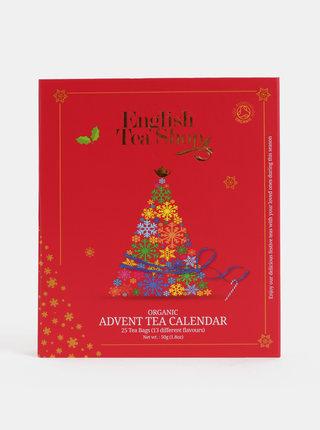 Červený čajový adventný kalendár English Tea Shop