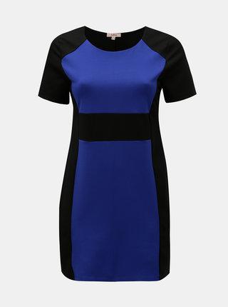 Rochie albastru-negru cu maneci scurte La Lemon